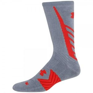 UNDER ARMOUR Undeniable Heat Gear Crew Gray Socks
